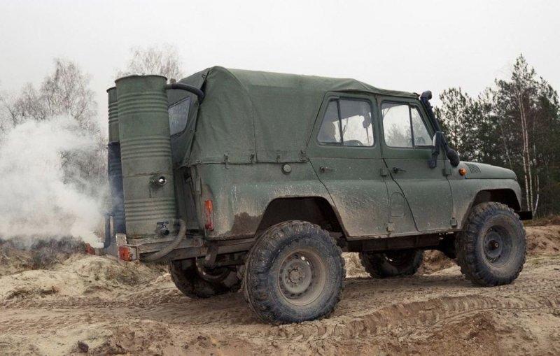 Белорус ездит на УАЗике, работающем на дровах
