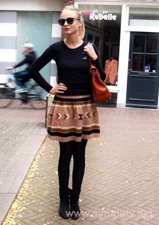 С чем носить трикотажную юбку?