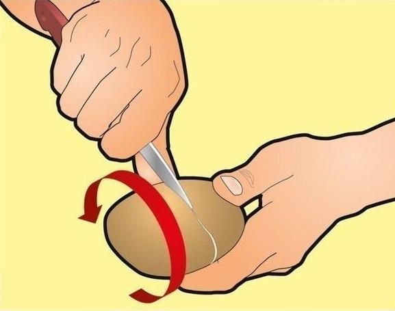 Как очистить вареный картофель за несколько секунд? Это проще простого!