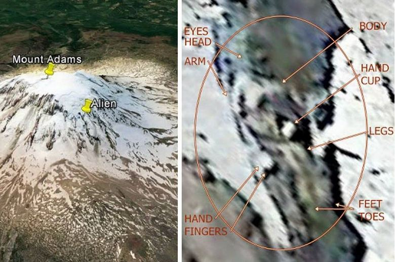 На вершине горы Адамс обнаружен замерший гигант