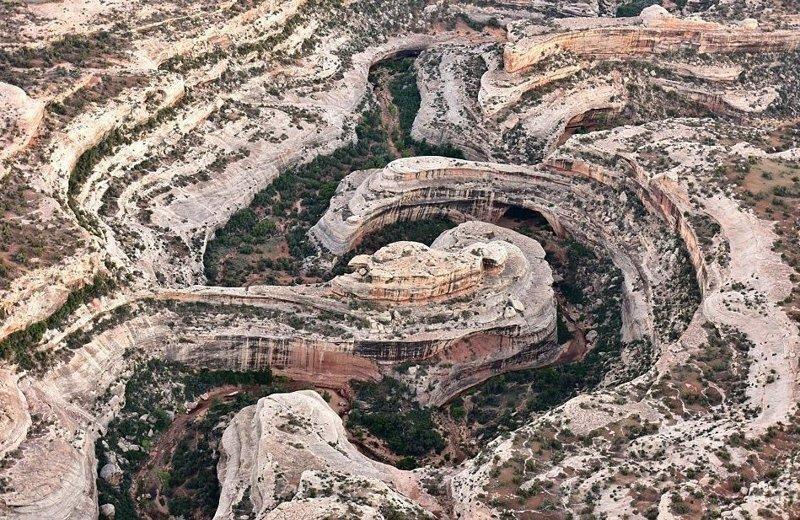 """Национальный монумент Бриджес (""""Природные Мосты""""), штат Юта америка, вид, высота, мир, пейзаж, природа, фотография"""