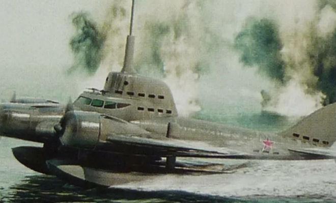 Секретная летающая подлодка времен СССР