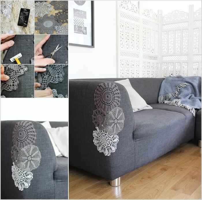 как залатать обивку дивана