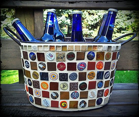 Beer bucket I want to make with Bottle caps: