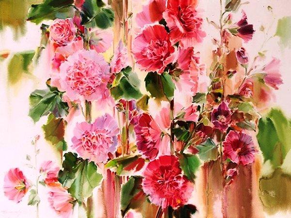 Удивительные по своей красоте акварели художника Олега Тимошина. Они просто чудесные!