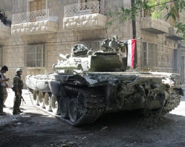 В Сирии российский Т-72 выдержал попадание противотанкового комплекса TOW