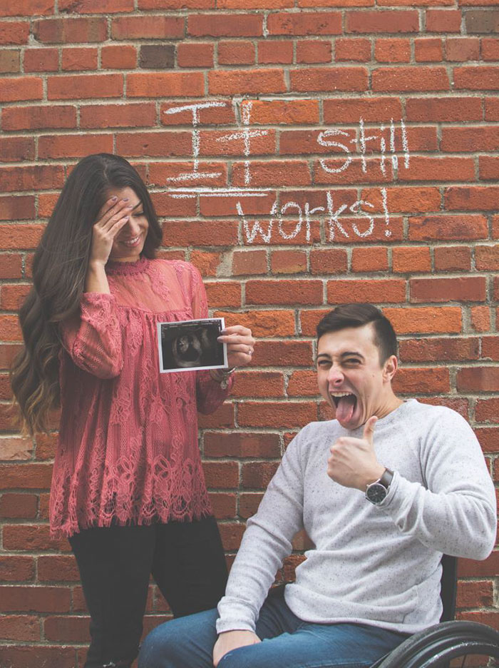 Woman and Her Paraplegic Fiancé Announced Their Unexpected Pregnancy In A Hilarious Way