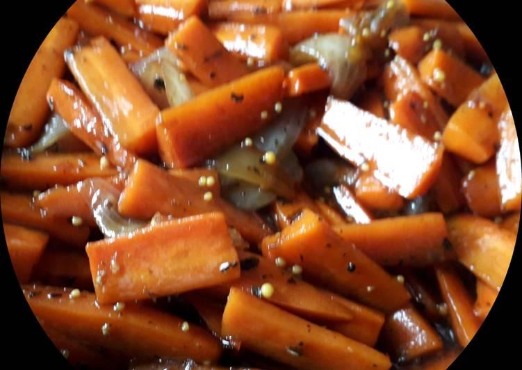 Морковь глазированная с медом и бальзамическим уксусом recipe main photo