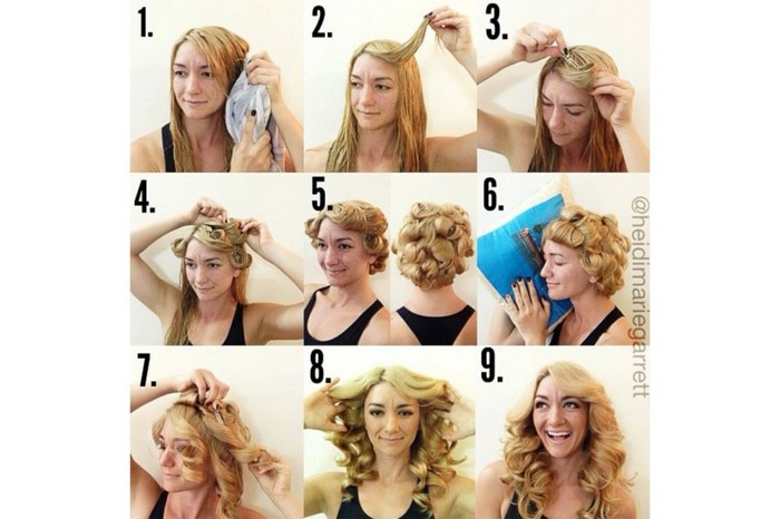 Как красиво сделать локоны на короткие волосы