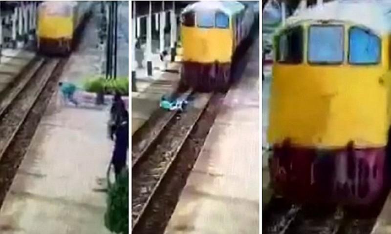 Чудо в Таиланде: мужчина встал невредимым из-под колес поезда