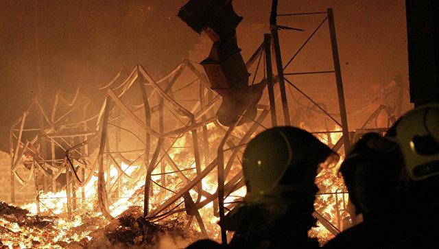 В Харькове в результате диверсии сгорел склад с боеприпасами