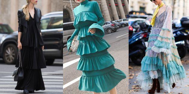 Многоярусные платья-торты