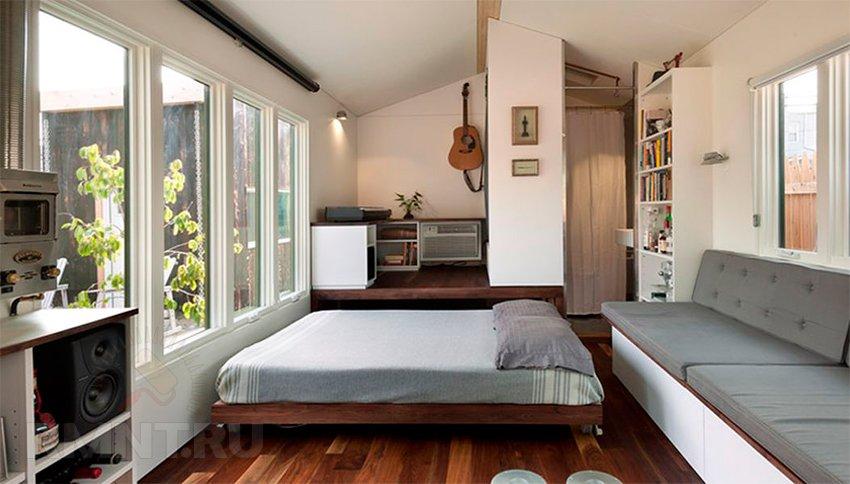 Взгляд изнутри на уютный микро дом