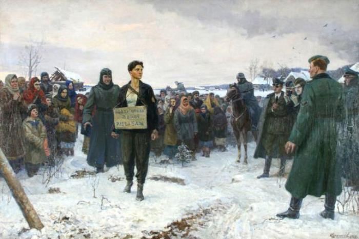 К. Щекотов. Зоя Космодемьянская перед казнью | Фото: virtualrm.spb.ru