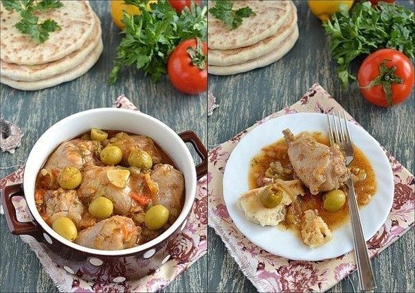 Курица по-гречески с греческими лепешками