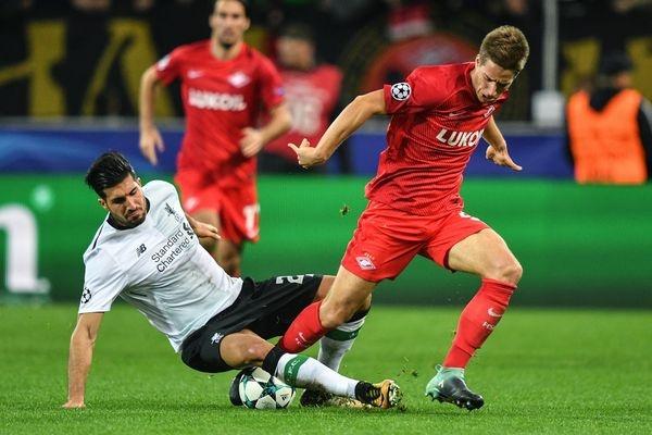«Спартак» устоял вматче Лиги чемпионов с«Ливерпулем»: 1:1