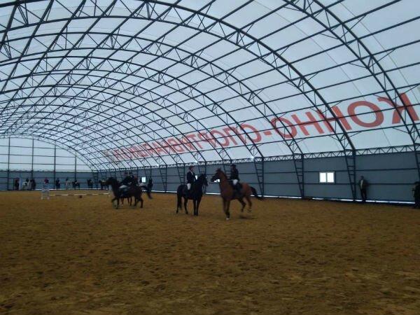 В Краснодарском крае открыли спортивный комплекс и крытый конный манеж Хорошие, добрые, новости, россия, фоторепортаж