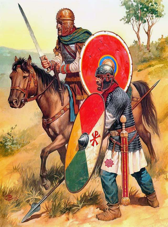 Христианская символика в римской армии IV в.