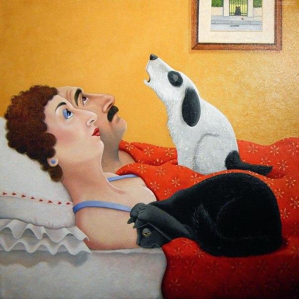 У Серёжи в кровати завелась женщина...