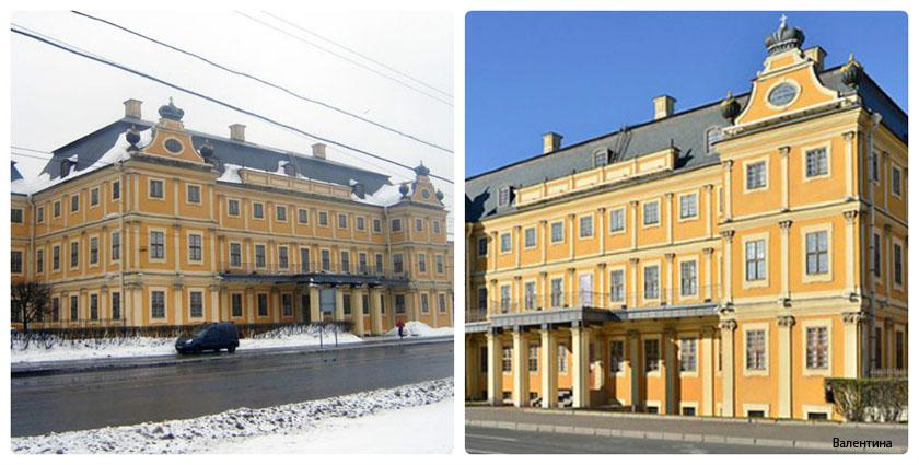 Первые здания Санкт-Петербурга и окрестностей в стиле барокко.