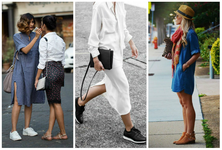 Стиль Casual для женщин, фото. Платья-рубашки