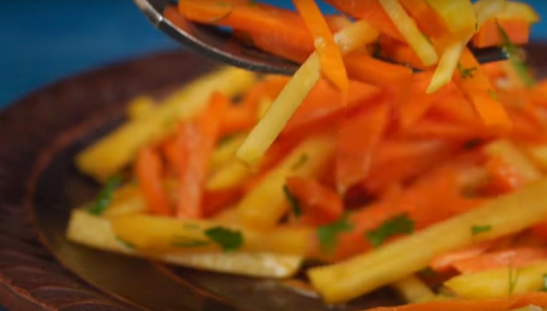 Салат из репы с морковью - просто невероятная вкуснятина