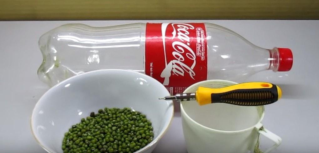 Удивительный лайфхак. Использование пластиковой бутылки для выращивания ростков бобовых