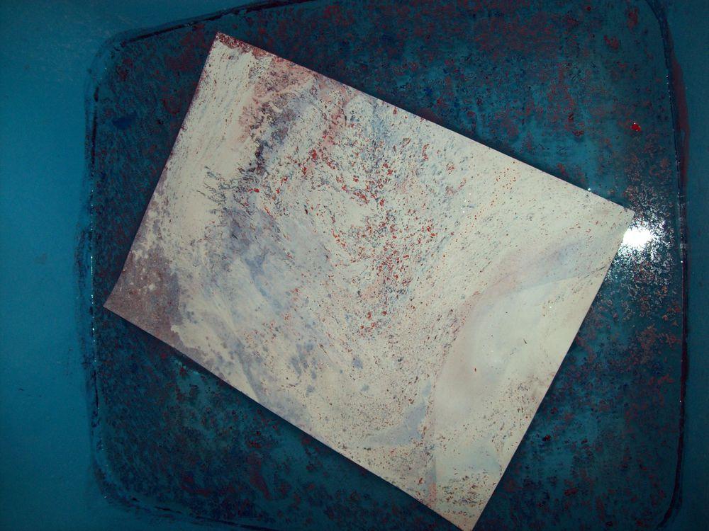 Покраска под мрамор — гранит за 2 секунды