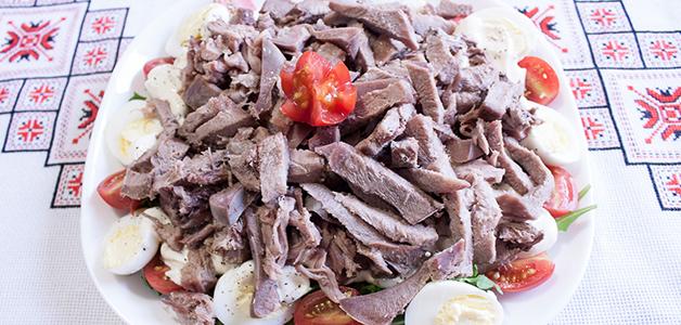 Салат из языка свиного
