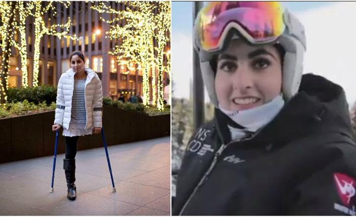 Самый необычный в мире горнолыжник: девочка, потерявшая ногу при землетрясении, катается на лыжах лучше здоровых профессионалов