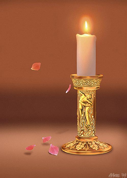 Самостоятельная очистка негативной энергии с помощью свечи.