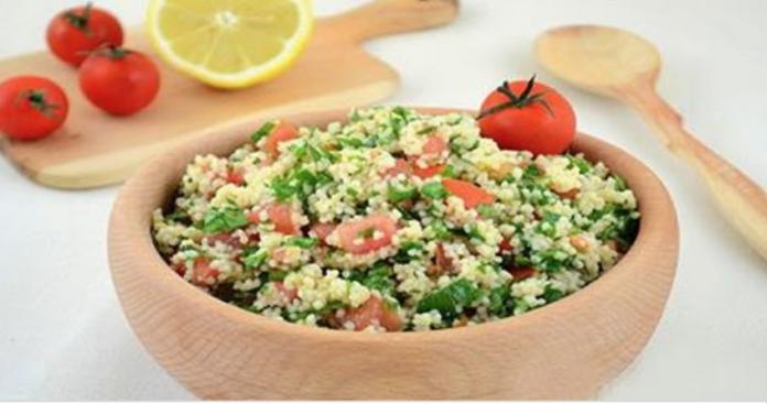 Очень сытный салат «Табуле» — очень полезный, освежающий, довольно легкий в приготовлении