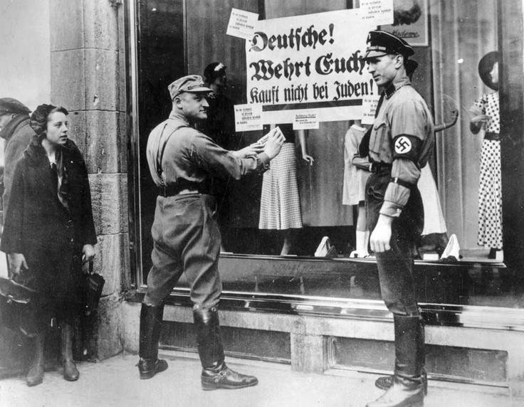 Бойкот предприятий, принадлежавших евреям, Германия, 1/4/1933