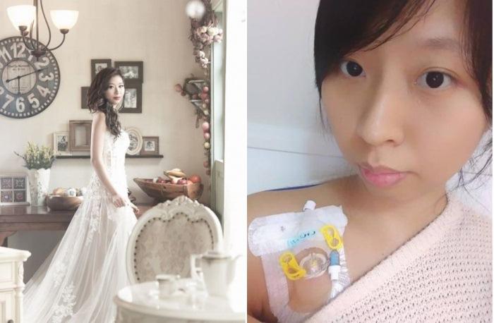 Китаянка, несмотря на смертельный диагноз, устроила для себя одиночную фотосессию в свадебном платье.