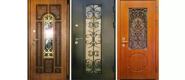 входные железные двери со стеклом недорого