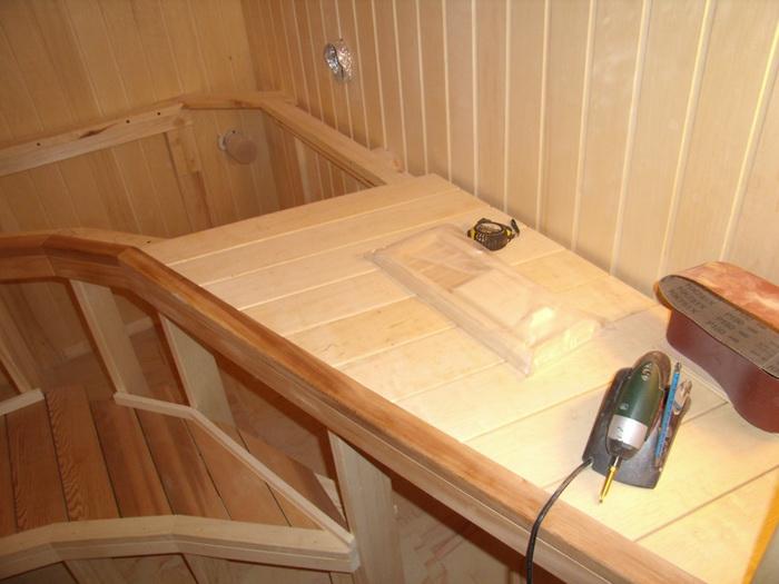 Пропитка для полка в бане и сауне