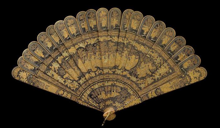 Старинный веер из Китая