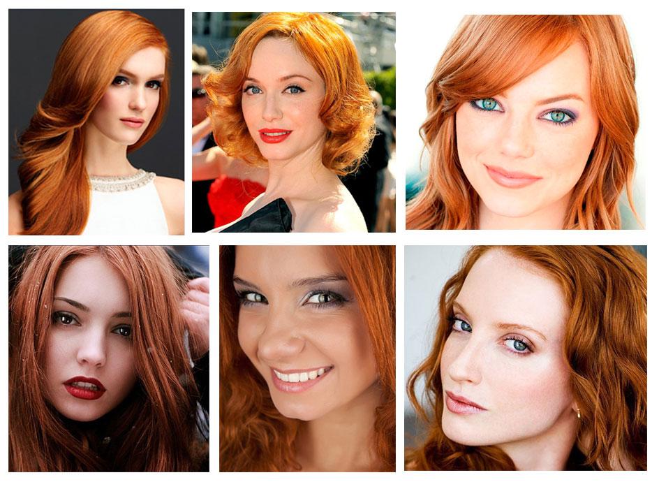 Помада цвет рыжие волосы