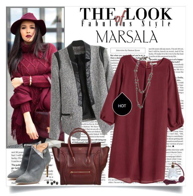Стильные платья цвета марсала