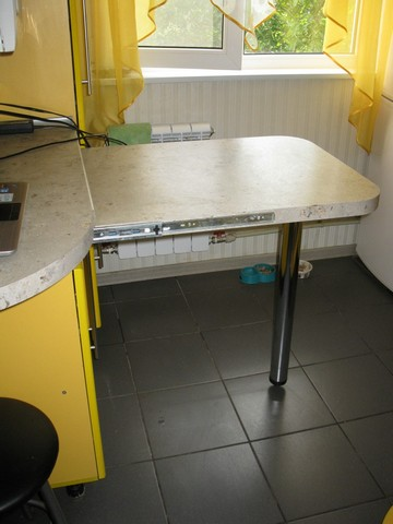 Дизайн, планировка и ход ремонта желтой кухни 6 кв.м