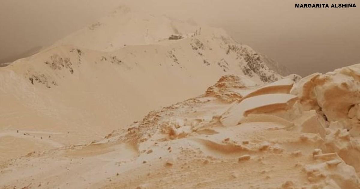 Оранжевый снег напугал сразу…