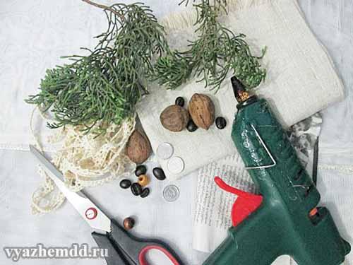 материалы и инструменты для создания рога