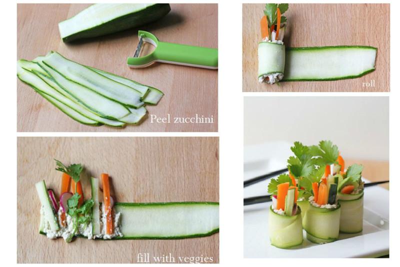 И колбаски нет? Ну овощи нарежьте, добавьте сыр или несладкий творог со специями и вот уже закуска готова. Закуски, красота, полезно