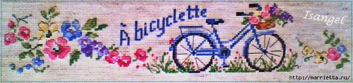 Вышиваем велосипед. Идеи со схемами (27) (700x164, 134Kb)