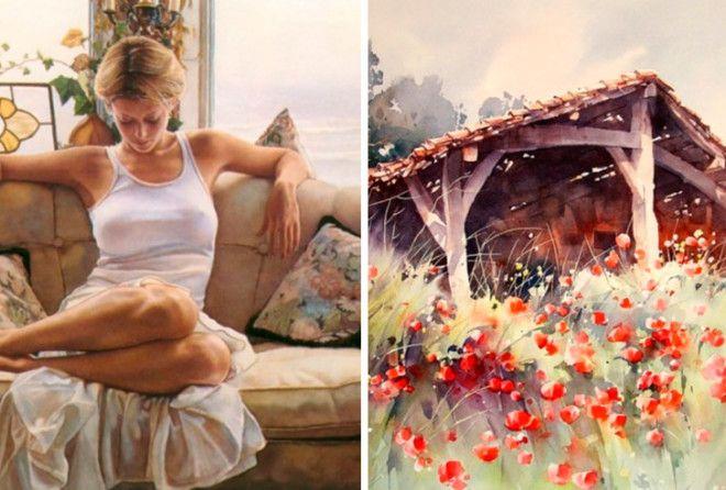 20 потрясающих акварелей от художников 21 века