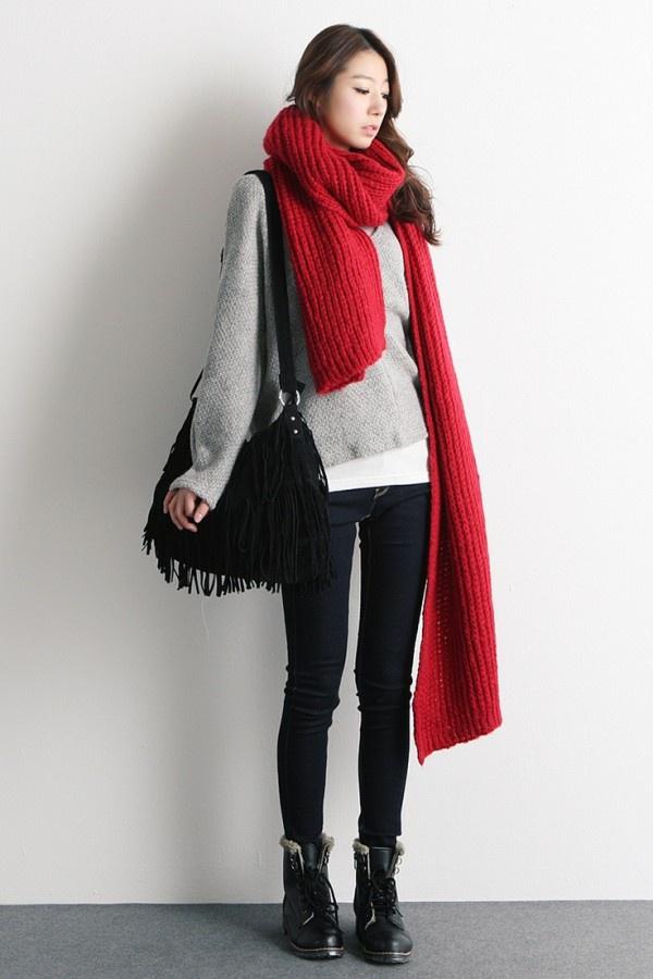 Экстра-длинный шарф (подборка)