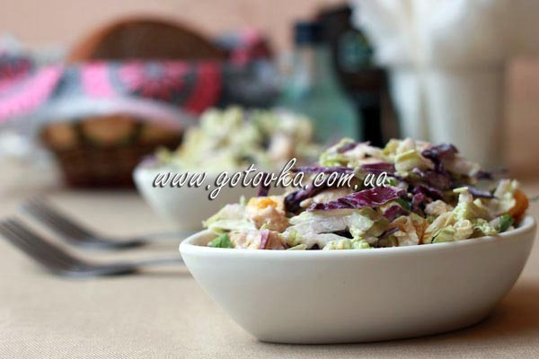 Салат из тыквы и курицы