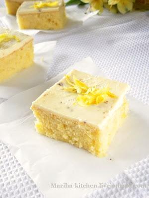 Лимонные пирожные с белым шоколадом