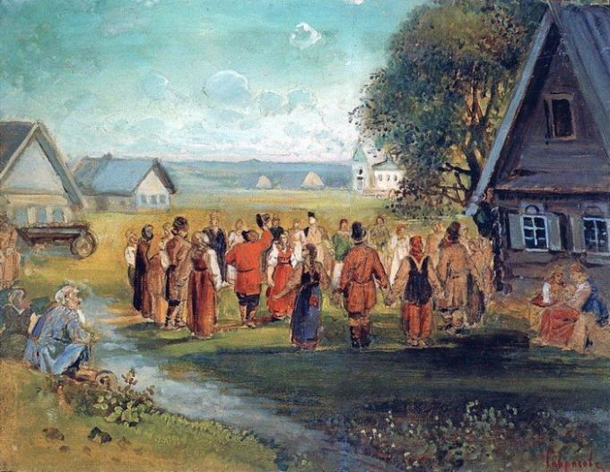 Мужчина и женщина в народном танце