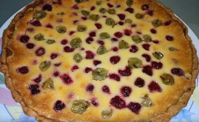 Финский пирог с ягодами